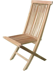 The Wilton folding chair is crafted from premium grade teak - CLICK FOR MORE INFORMATION