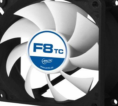 Arctic  F8 TC - 80 mm Standard Low Noise Temperature Controlled Case Fan