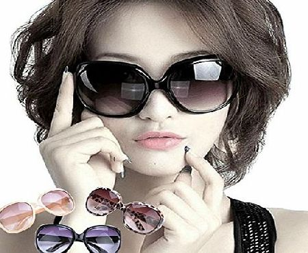 Ardisle LARGE OVERSIZED LADIES WOMEN SUNGLASSES DESIGNER BIG FRAME RETRO VINTAGE FASHION (Black)