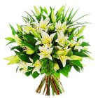 Arena Flowers White Lily Bouquet