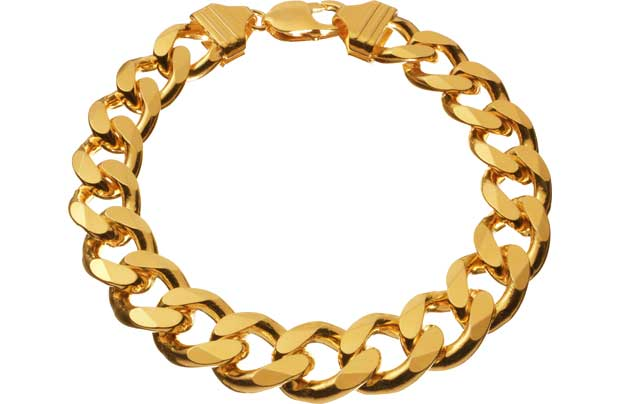 9ct Gold Plated Silver 2oz Solid Curb Bracelet