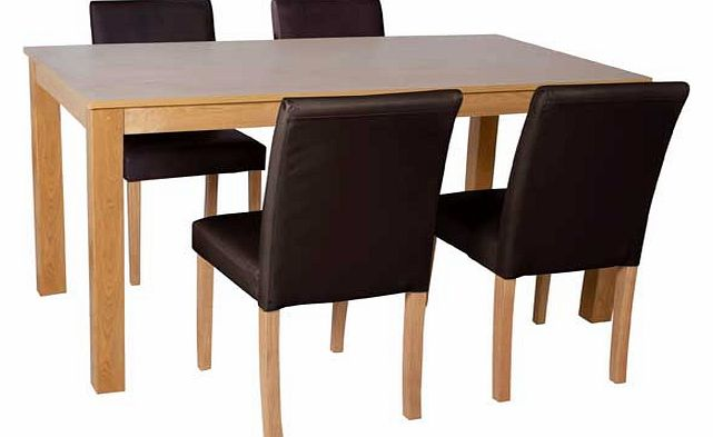 argos baby furniture : argos elmdon oak 120cm dining table and 4 chocolate from www.comparestoreprices.co.uk size 641 x 393 jpeg 24kB