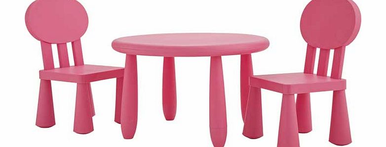 Argos Funky Plastic Chair And Table Pink Review