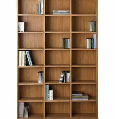 argos islington dvd and cd media storage unit oak review compare prices buy online. Black Bedroom Furniture Sets. Home Design Ideas