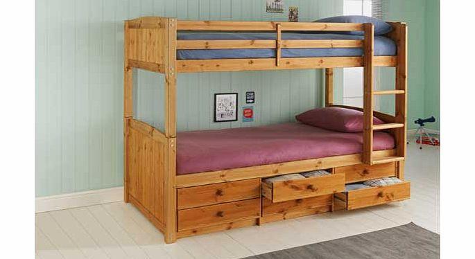 Bunk beds ashley pine detachable bunk bed white for Detachable bunk beds