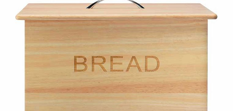 Argos Oslo Traditional Wooden Bread Bin product image