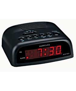 argos value range black led alarm clock review compare prices buy online. Black Bedroom Furniture Sets. Home Design Ideas