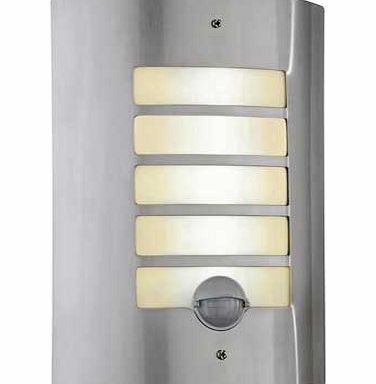 argos value range stainless steel pir wall light review. Black Bedroom Furniture Sets. Home Design Ideas