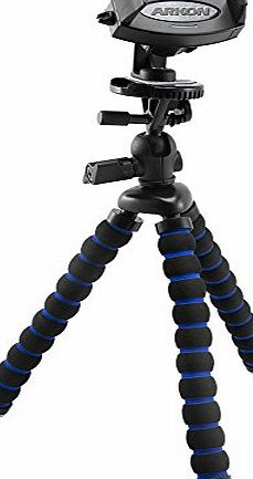 Arkon MG2TRIXL 11`` Tripod Mount with Phone Holder for Apple iPhone 6S Plus, iPhone 6S, 6, 5S, 5C, Samsung Galaxy Note 5, 4, 3, Galaxy S6 edge , S6, S5, LG G4, G3, Google Nexus 6 and Nexus 5, HTC One M