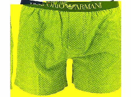 Armani Emporio Armani Woven Boxer - Grey - Mens Boxer shorts with fly product image