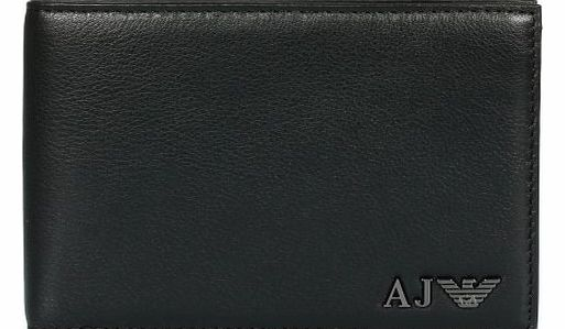 Armani Jeans metal badge billfold wallet Black One product image