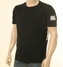 Mens Black Cotton Round Neck Swimwear T-Shirt