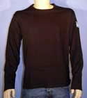 Mens Black Swimwear Long Sleeve Cotton T-Shirt