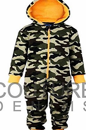 Main Colour: Woodland camo with Neon Orange | Size: 9-10 yrs Height 134-140cm | Item Type: Comfy HOODED jumpsuit HOODY HOOD bath baby xmas