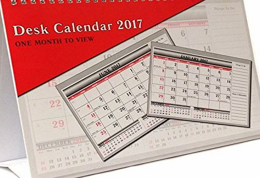 ARPAN  2017 One Month To View UK Stand Alone Desk Office Table Calendar