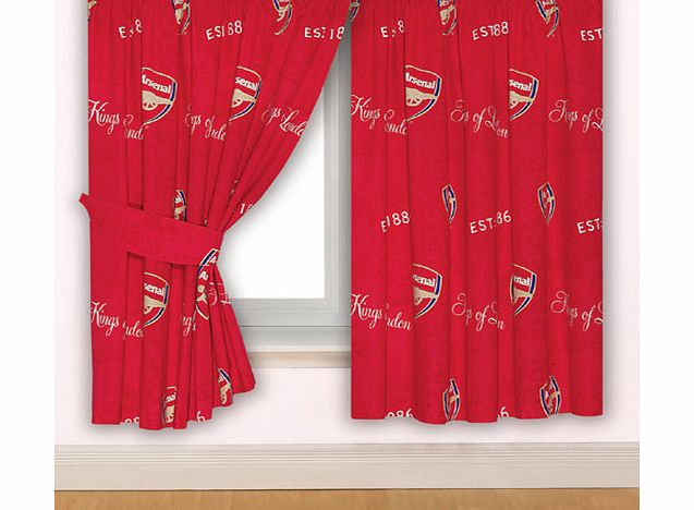 Arsenal fc curtains crest design 54 review compare for Crest home designs curtains