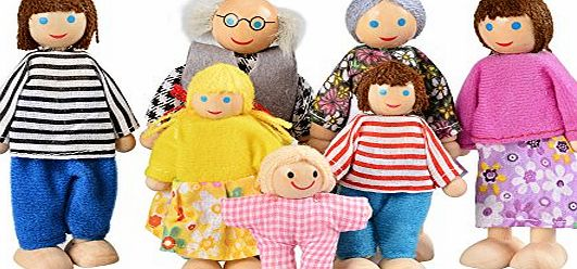 Arshiner Happy Doll Family of 7 People