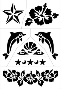 Star Tattoo Stencils