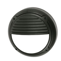 Mini Horizon 100W Black Circular Wall Light