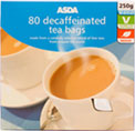 asda decaffeinated tea bags 80 review compare prices. Black Bedroom Furniture Sets. Home Design Ideas
