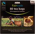 asda fairtrade tea bags 80 per pack 250g review. Black Bedroom Furniture Sets. Home Design Ideas