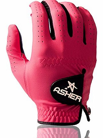 Asher Mens Asher Chuck All Weather Golf Glove (80s Pink, Medium) product image