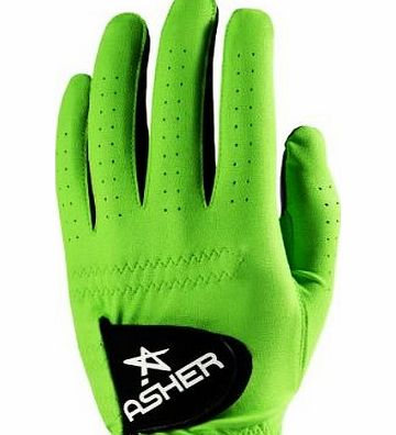 Asher Mens The Chuck All Weather Golf Glove by Asher (Electric Green, Large) product image