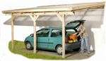 Lean to car port with plastic roofing in three sizes for 1 car carport dimensions