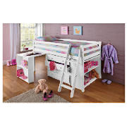 Ashley Mid-Sleeper with office, White & product image