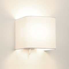 Ashino Square Wall Light White Fabric Shade