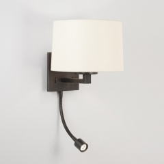 Azumi Classic LED Wall Light Bronze and White