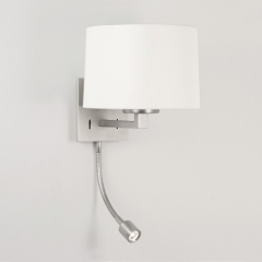 Azumi Classic LED Wall Light Nickel Matt and White