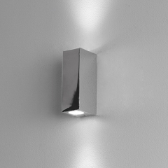 Bloc Chrome LED Bathroom Wall Light