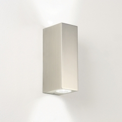 Bloc Matt Nickel LED Bathroom Wall Light