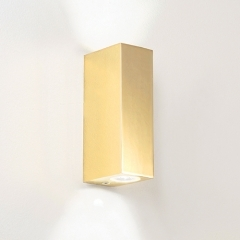 Bloc Up Down Gold LED Wall Light