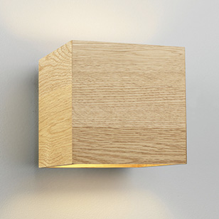 Astro Lighting Cremona Modern Square Wall Light In Light Oak Wood - review, compare prices, buy ...