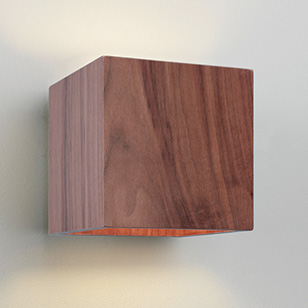 Astro Lighting Cremona Modern Square Wall Light In Walnut Wood - review, compare prices, buy online