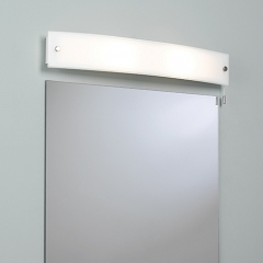 Curve Bathroom Wall Light Switched