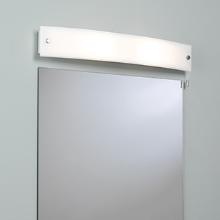 Bathroom Wall Lights Pull Cord Switch : Astro Lighting Curve Simple White Bathroom Mirror Wall Light With A Pull Cord Switch - review ...