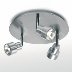 Astro Lighting Exel Aluminium Ceiling Light with 3 Spotlights