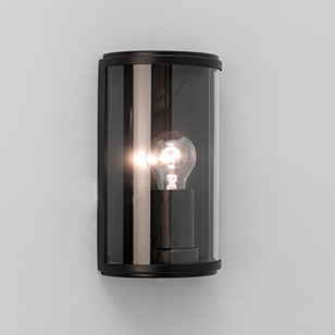 Round Outside Wall Lights : Astro Lighting Homefield Round Outdoor Wall Light In A Black Finish With A Clear Glass Shade ...