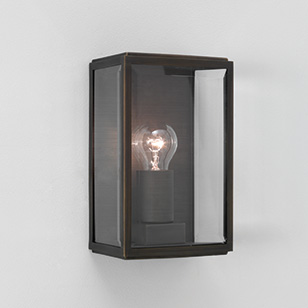 Astro Lighting Homefield Square Outdoor Wall Light In A Bronze Finish With A Clear Glass Shade ...