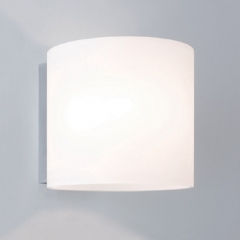 Luga Plus White Glass Wall Light