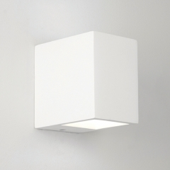 Mosto White Square Bathroom Wall Light