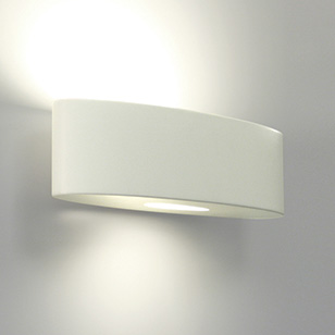 Modern Ceramic Wall Lights : ovaro modern white ceramic wall light