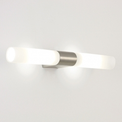 Padova Matt Nickel Modern Bathroom Wall Light