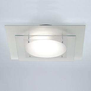 Astro Lighting Planar Modern Square Bathroom Ceiling Light With White And Fro
