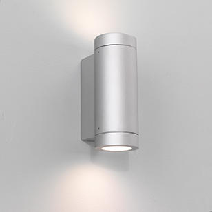 Astro Lighting Porto Low Energy Silver Outdoor Wall Light That Directs Light Up And Down ...