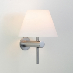 Roma Matt Nickel Bathroom Wall Light
