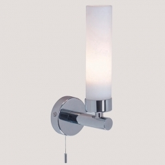 Tube Chrome Bathroom Wall Light Switched